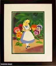Alice in Wonderland Disney Sericel Golden Afternoon  CoA Brand NEW Frame