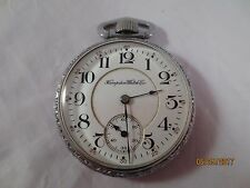 Vintage Antique Railroad 16s Hampden Pocket Watch 21 Jewels Chronometer Adjusted