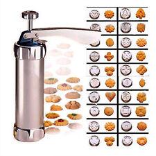 Cookie Biscuit Making Maker Pump Press Machine  24 Shapes -20 Moulds & 4 nozzles