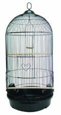 YML A1594 Bar Spacing Round Bird Cage, Black, Large