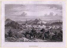 """BIH """"Ansicht von Elberfeld"""" Stst. um 1850 - Darst.107x160 mm"""