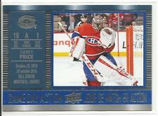 16-17 Carey Price Game Day Action Tim Hortons Canada Insert Card #GDA-8