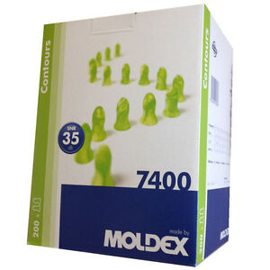 Moldex Disposable Contours Foam Earplugs Standard size individual pack 200 Pairs