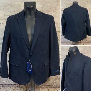 Polo Ralph Lauren Navy Chino Stretch Cotton Sport Coat Blazer Jacket Sz 44R $300