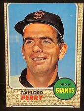 GAYLORD PERRY 1968 Topps Baseball ERROR OddBaLL MISCUT Card #85 Vintage GIANTS