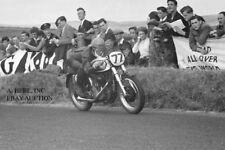 Norton 350cc factory racer Jack Brett 1953 Ulster Grand Prix motorcycle racing