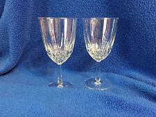 LUMINARE DIAMANT CRYSTAL WINE GLASSES CRISTAL D'ARQUE FRANCE SET OF 2