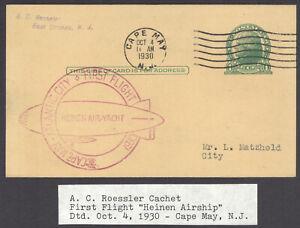 Anton Heinen, Air Yacht, 1st Flight Cape May-Atlantic City Oct 4, 1930, Roessler