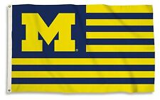 Michigan Wolverines Stripes Nation Premium 3x5 Flag Outdoor Banner University of