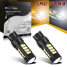 2x LED Switchback White Amber Turn signal light 7443 7440 42-Epistar-2835