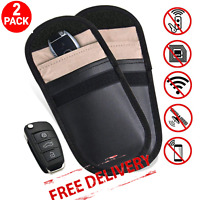 Car Key Signal Blocker Fob Pouch Case Faraday Cage RFID Blocking Bag Keyless 2PC