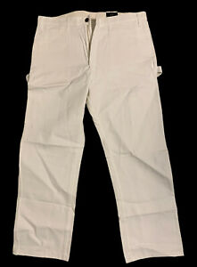 Dickies Men's Painter's Utility Pant Relaxed Fit, White,, White, Size 36W x 30L