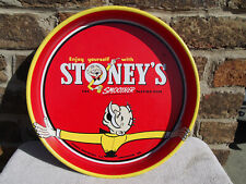 "Vintage Stoney'S Beer The Smoother Tasting Beer 13"" Bar Tray Smithton, Pa #Jb36"