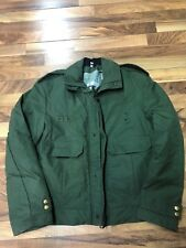 Blauer Goretex Winter Jacket Lined Green Police Sheriff Coat Mens 42 L Medium