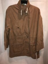 NWT CS Signature Women's Brown Anorak Jacket Toggle Buttons Size Small