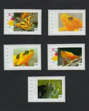 FROGS = set of 5 Picture Postage Personalized stamps MNH Canada 2016 [p16/01fr5]