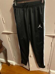 Nike Air Jordans Boys Youth Track Athletic Pants Size in Black Large (12-13) EUC