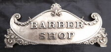 SMALL 400 CLASS BARBER SHOP TOP SIGN RED BRASS  OR NICKEL