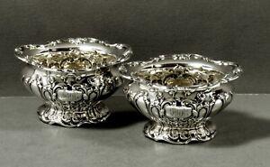 Gorham Sterling Salt Bowls                  c1920 CHANTILLY