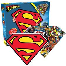 Superman shaped 600 piece double sided jigsaw puzzle (nm 75017)