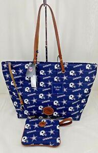 Dooney & Bourke NFL Dallas Cowboys Addison Tote & Stadium Wristlet $348 NWT