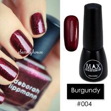 MAX 7ml Nail Art Color UV LED Lamp Soak Off Gel Polish #004-Burgundy