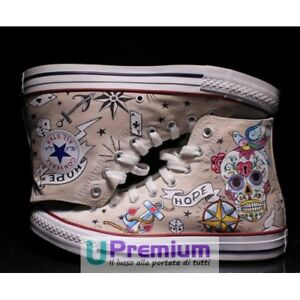 Converse All Star Teschio Messicano Love Hope Call It Magic Scarpe Disegnate Han