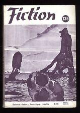 Revue FICTION n° 136 Mars 1965  R. SILVERBERG / J.L. BORGES / Terry CARR    OPTA