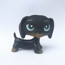 Littlest Pet Shop Toys Black Dachshund #325 LPS dog Chien Teckel puppy figure