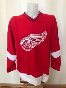 Detroit Red Wings Size XL Starter Ice Hockey jersey shirt maillot trikot maglia