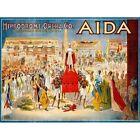 Advert Theatre Stage Show Aida Verdi Hippodrome Opera Usa Pharaoh Framed Print