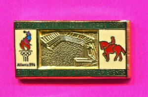 1996 ATLANTA OLYMPIC PIN EQUESTRIAN GOLD GEORGIA INTERNATIONAL HORSE PARK PIN