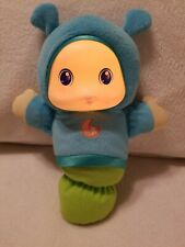 2011 Playskool Glow Worm Doll. She Lights Up And Play 4 Songs For Night Time