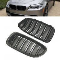 Carbon Fiber Grill Fit For 2010-2016 BMW F10 F11 Sedan Glossy Front Hood Grille