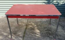 Retro Vintage 50s 60s Rockabilly Red Laminex Kitchen Table