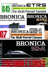 20 Full Colour Bronica opuscoli su USB o CD-ETRS ETRSi SQ///SQ-A/GS-1
