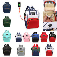 Pañal pañales maternidad bolso Satchel de puerto USB bebé momia mochila de gr