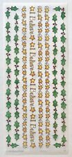 I BELIEVE VELLUM CHRISTMAS BORDERS BO-BUNNY PRESS 5X12 IN. SHEET STICKERS STARS