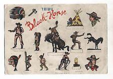 ESPOSITORE SOLDATINI Tribu' Black Horse ANNI 50 Promo soldiers expositor Torgano