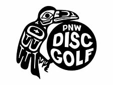 Disc Golf Vinyl Sticker Decal PNW