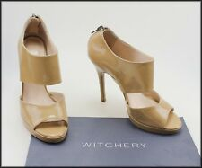 WITCHERY WOMEN'S HIGH HEEL OPEN TOE PATENT LEATHER SHOES SIZE 5 AUST 36 EUR