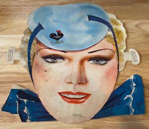 Vintage Weatherbird Shoes diecut cardboard Mask - Original advertising