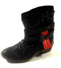 "American Rag ""Wylee"" Women's Black Ruched Man Made Med Heel Ankle Boot 5M"