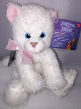 New Russ Shining Stars Soft White Cat Pink Ribbon plushie With Secret Code 2006