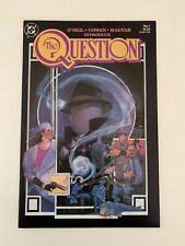 THE QUESTION #1 ==> NM/NM+ DENNY O'NEIL DC COMICS 1987