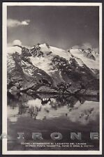 VALLE D'AOSTA COGNE 84 LAGO LAUSON - STAMBECCHI Cartolina FOTOGRAF. viagg. 1949