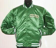 Vintage 80's Boston CELTICS STARTER Jacket SATIN Back Patch NWT NEW Old Stock SM