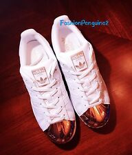 NEW!! Adidas Original Superstar 80s Women's Athletic Sneakers BY2882 Metal GOLD