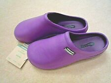 NEW Town & Country purple garden CLOGS -Size 6 UK