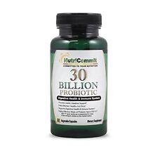 NutriCommit 30 Billion Probiotics Vegetable Capsules(60) strain of BACILLUS subt